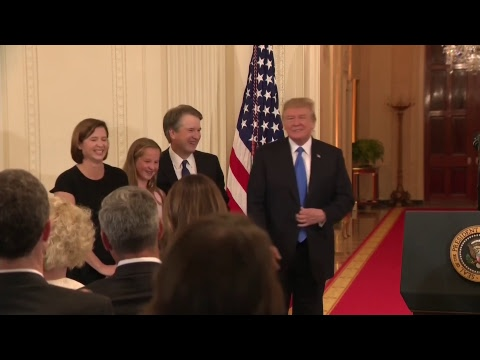 Donald Trump names Brett Kavanaugh as supreme court nominee