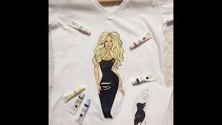 Как рисовать акрилом | Роспись одежды | DIY футболка!