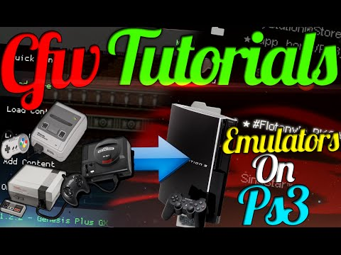CFW Tutorials #8 | Emulator On PS3 ! - Play Old Games On Your PS3 ( NES,GameBoy,Genesis,Atari )