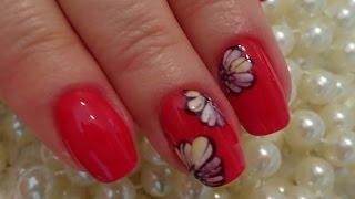 Рисуем цветы гель лаком - дизайн ногтей для начинающих. Просто и красиво.