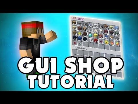 Minecraft Plugin: GUI Shop - Virtual shop! No signs, no chests - YouTube