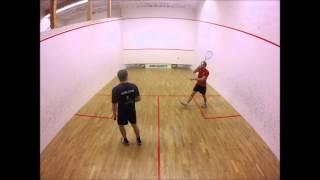 Squash : Sørlandet Open 3. 5.plass finale. Joar Karlsen VS Jan Roger Moland