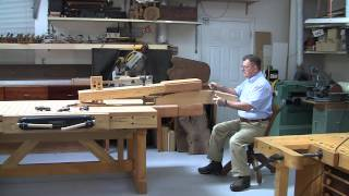 Foster Workbench - Using The  Foster Chair Vise© As A Shave Horse For Large Items