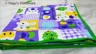 homemade baby mattress with old clothes/Baby Quilt/Baby Mattress/Baby bed sheet with old cloth