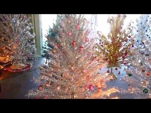 Grove of Aluminum Christmas Trees - 2014