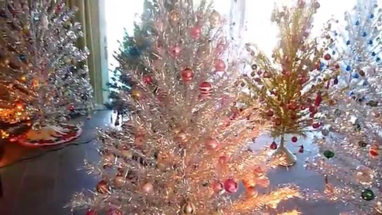 Grove of aluminum christmas trees 2014 youtube
