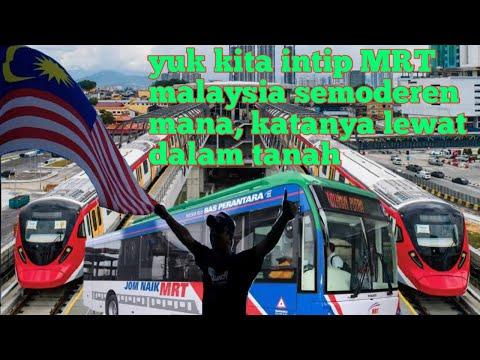 PUBLIC TRANSPORT IN KUALA LUMPUR TRANSIT DARI LRT KE MRT DALAM TEREWONG TANAH