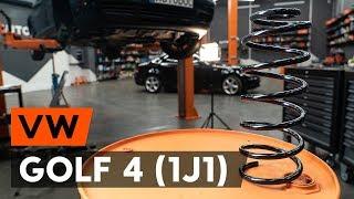 Kā nomainīt priekšējās atsperes VW GOLF 4 (1J1) [AUTODOC VIDEOPAMĀCĪBA]