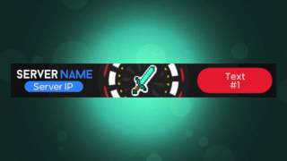 3D Animated .GIF Minecraft Server Banner by Woodpunch\'s Graphics