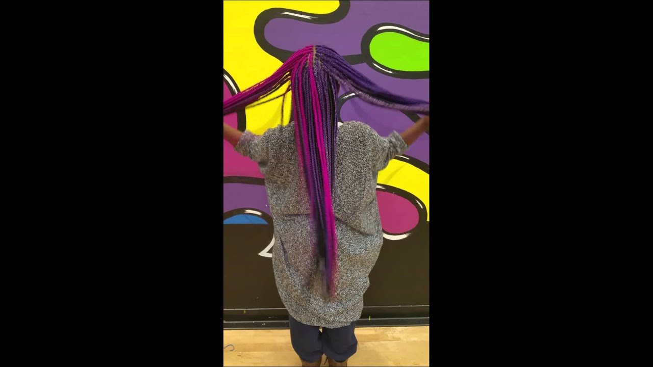 Pink And Purple Box Braids Youtube