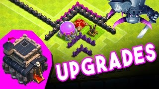 Clash of Clans  - UPGRADING TH 9 -  MAX LOONS AND UPGRADES