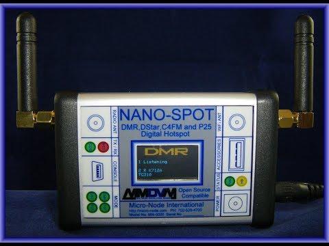 New DMR/DSTAR/Fusion/P25 Nano-Spot WIFI Digital Ham Hotspot