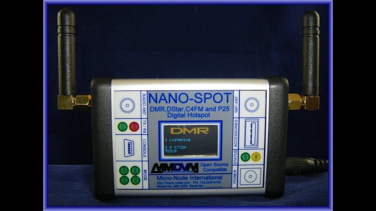 New DMR / DSTAR / Fusion / P25 Nano-Spot WIFI Digital Ham