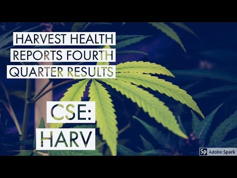 Harvest Health Reports Fourth Quarter Results and 2018 Fiscal Year! Shares Up 7%! thumbnail