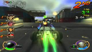 Jak X - Combat Racing: Circuit Race - Kras City/Loading Docks/Dethdrome