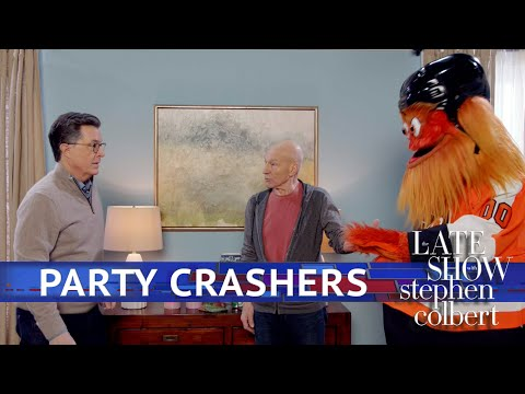 Colbert Throws A Super Bowl Party