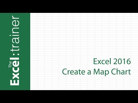 Excel 2016 -  Create a Map Chart