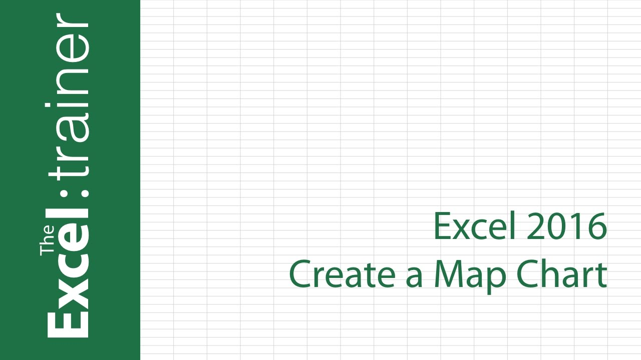 Excel Create A Map Chart YouTube - Excel us map chart