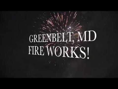 Fire Works Display at Buddy Attick Lake Park, Greenbelt, MD 2017
