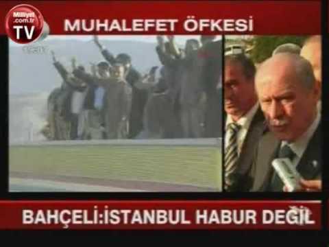 Bahçeli: İstanbul Habur'a benzemez, AKP'nin Avrupadan Törenle Getireceği 15 PKK'lı, 24.10.09