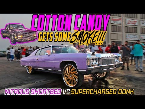COUNTRY C SUPERCHARGED DONK VS NITROUS SHORTBED C10 GRUDGE RACE