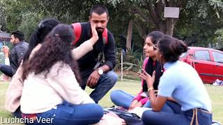 Staring  Prank At Cute Girls Part -3(Gone Wrong)Pranks In India //Luchcha Veer.