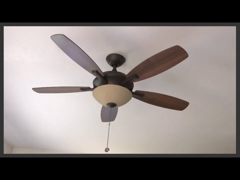 How to assemble install a ceiling fan with light kit youtube how to assemble install a ceiling fan with light kit mozeypictures