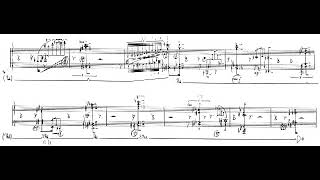 Magnus Lindberg - Twine for Piano (1988) [Score-Video]