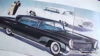Försäljningsbroschyr 1958 Continental Mark III och Lincoln