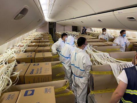 0 Mais voos com respiradores chegam ao aeroporto do Rio de Janeiro