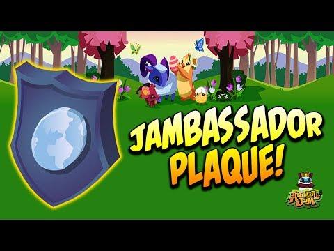 My Jambassador Plaque On Animal Jam!