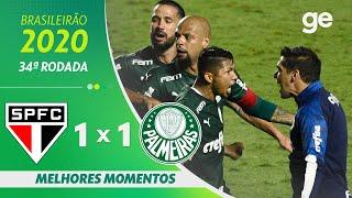 SÃO PAULO 1 x 1 PALMEIRAS | MELHORES MOMENTOS | 34ªRODADA BRASILEIRÃO 2020 |ge.globo