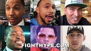 BOXING EXPERTS PREDICT CRAWFORD VS. KHAN: WARD, THURMAN, GARCIA, PORTER, LOPEZ, DAVIS, & MORE