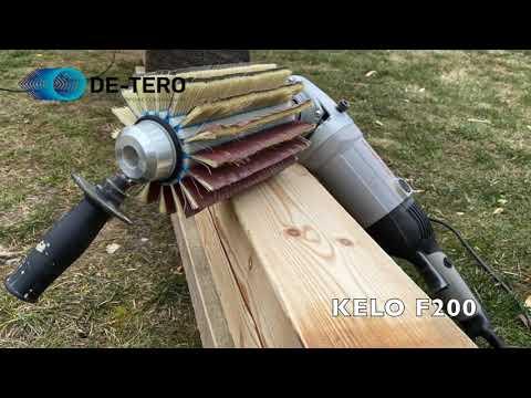 Брус? Его имитации? Вагонка? Теперь все это можно быстро отшлифовать системой DE-TERO® KELO F.