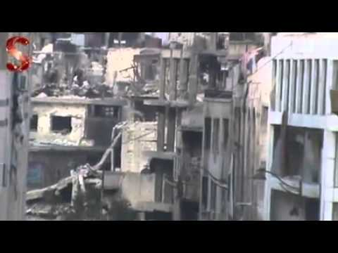 Syria|| Homs|| Homs city center with no sense of life 21-11-2013