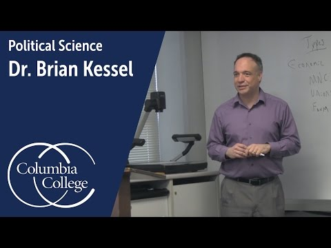 Dr. Brian Kessel: Associate Professor of Political Science, Columbia College