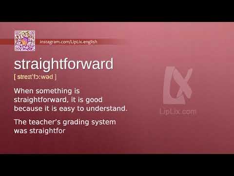 Straightforward : B2 level english vocabulary lesson, www.LipLix.com