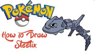 How To Draw Steelix (POKEMON)