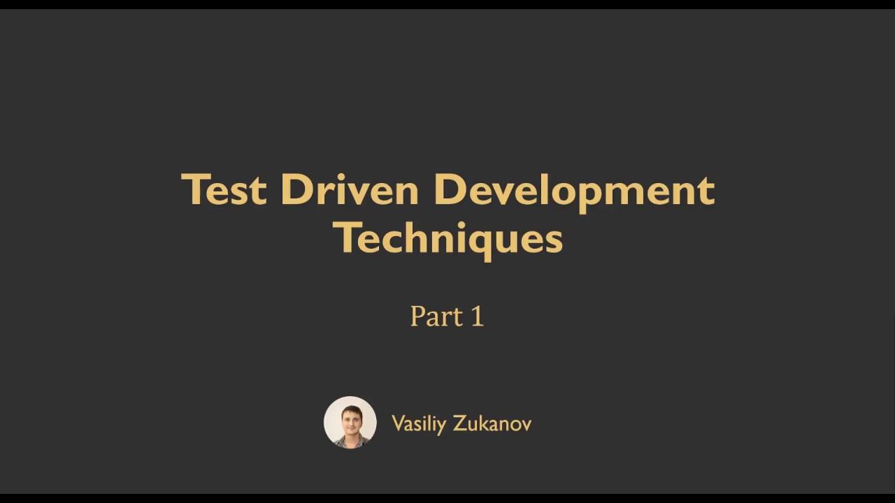 Test driven development techniques part 1 youtube test driven development techniques part 1 baditri Images
