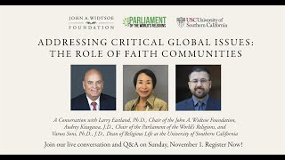 Addressing Critical Global Issues: The Role of Faith Communities