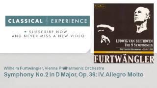 Ludwig Van Beethoven : Symphony No.2 in D Major, Op. 36 : IV.  Allegro Molto