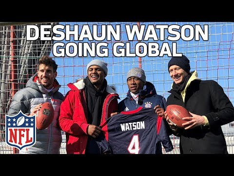 Deshaun Watson Hangs with FC Bayern & Fans in Germany | Going Global to Munich ✈️🏈🌎 | NFL