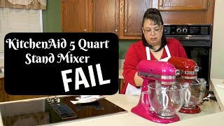 Kitchenaid Stand Mixer FAIL ~ Problems with a New Tilt Head Stand Mixer ~Unboxing a Stand Mixer