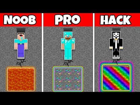 Minecraft Battle: FAMILY ORE MINING CHALLENGE - NOOB Vs PRO Vs HACKER In Minecraft Animation