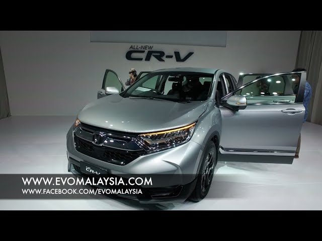 2018 New Honda CR-V 1.5 Turbo Interior Exterior Detailed Walk Around | EvoMalaysia.com