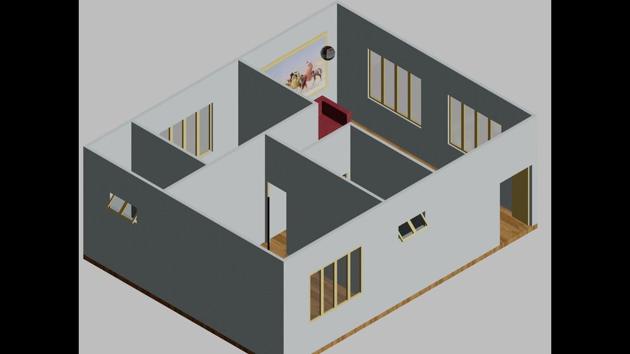Học Autocad 2013 – Hướng dẫn triển khai bản vẽ Căn hộ từ 2D lên 3D