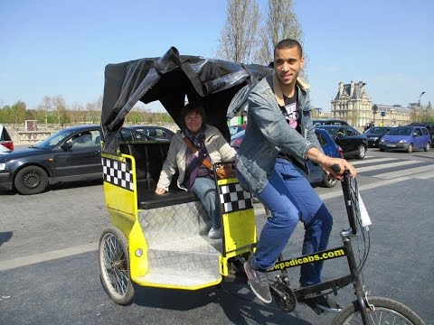 En triciclo por el mundo, Bike Cabs around the world