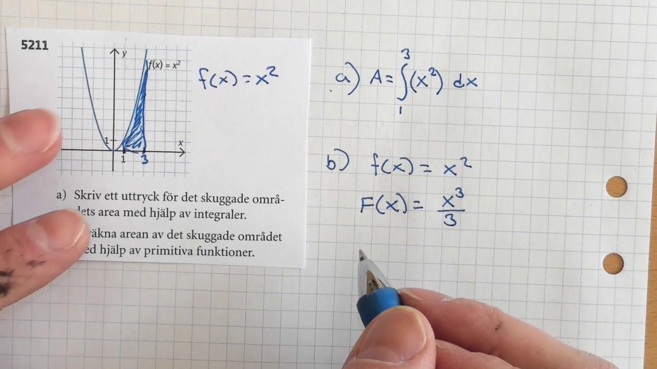 Matematik 3b, 5.2. Integraler. Uppgifter från origo 3b.
