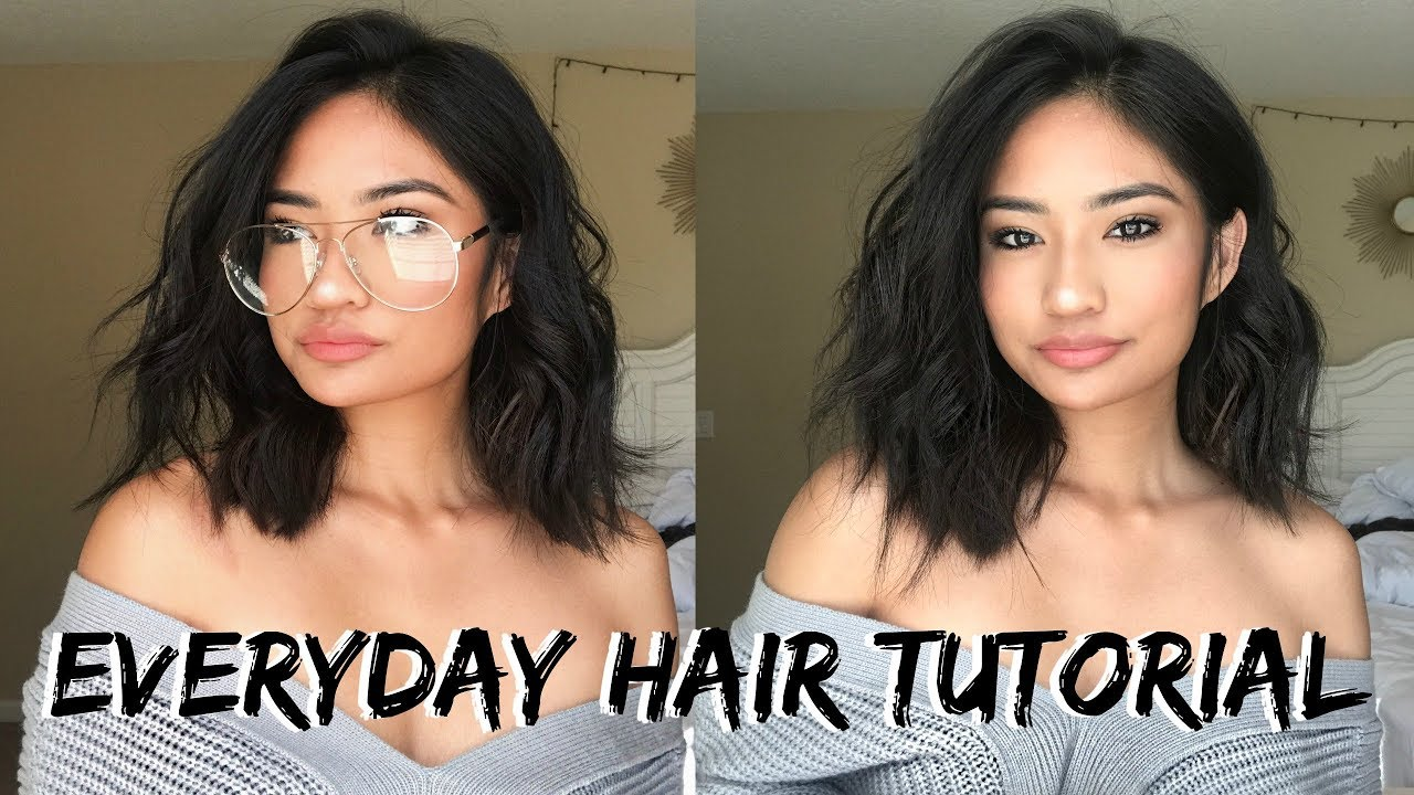 How To Curl Short Hair Simple Beach Waves Youtube