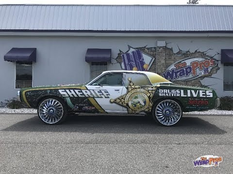 Seized Heroin Drug Runner Car Wrap Timelapse for Marion County Sheriff   DARE Don't Do Drugs